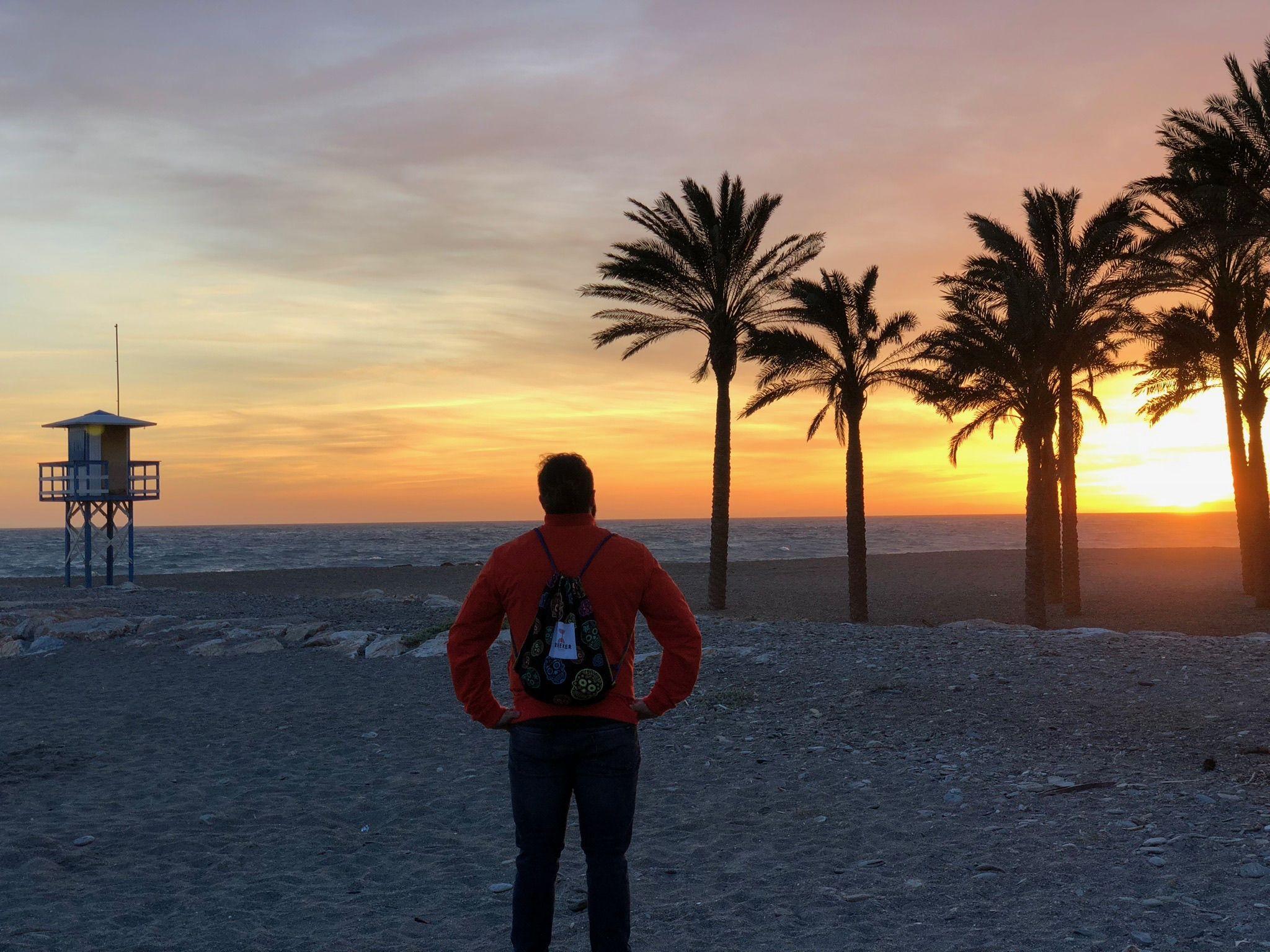 mochilas calaveras playa