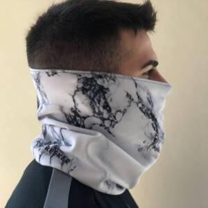 Braga polar para el cuello estampado de marmol