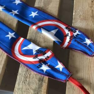 Muñequeras cordón capitan America con nombre